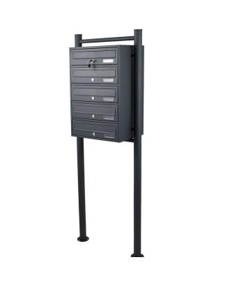 5 pašto dėžučių sistema GRAFITAS